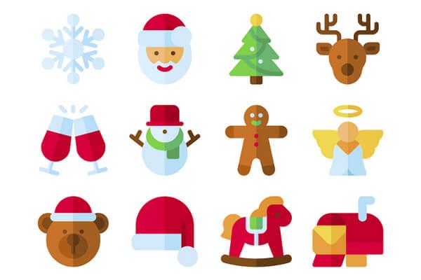 無料で使えるsvgpngフォーマットのクリスマスアイコンセット