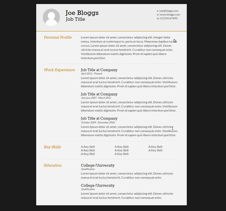 転職や就職に 無料html cssファイル cv resume テンプレート10選