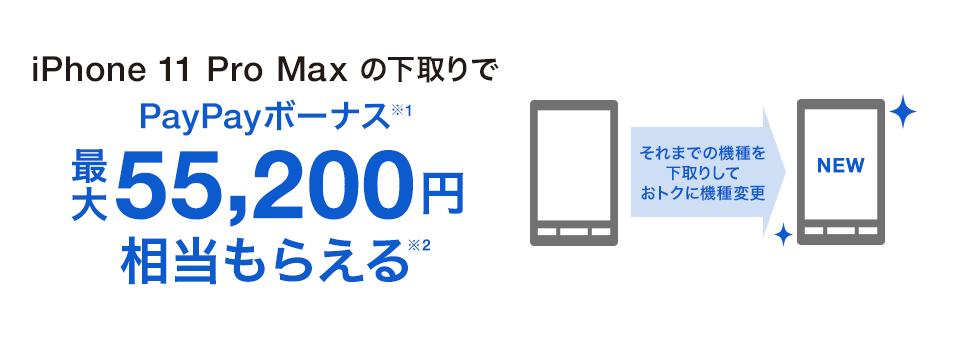 ソフトバンクオンラインショップキャンペーン下取りで最大55200円還元