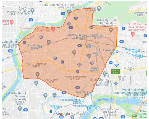 Uber Eats(ウーバーイーツ)の岐阜県対応エリア