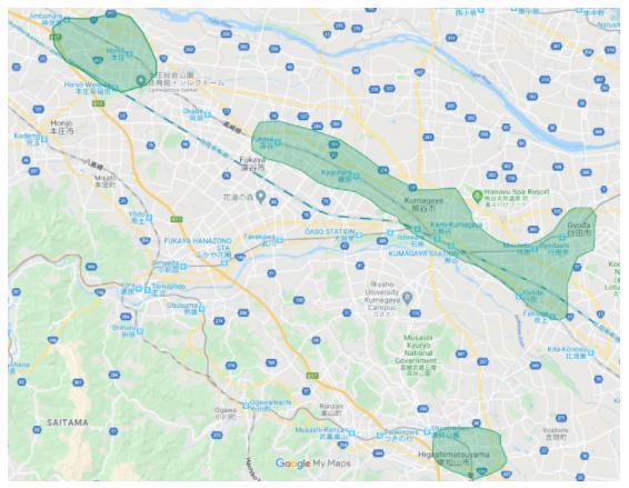 Uber Eats(ウーバーイーツ)埼玉県熊谷市、東松山市、本庄市対応エリア