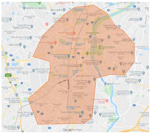 ウーバーイーツ愛知県豊田の対応エリア詳細・配達可能範囲
