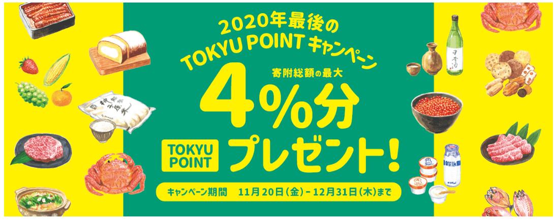 ふるさとパレットキャンペーンコード【2020年最後のTOKYU POINT最大4%分プレゼント】