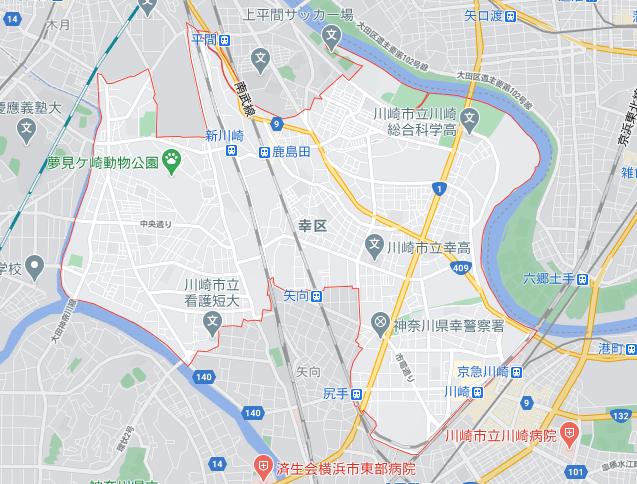 menu/メニュー神奈川県川崎市の配達エリア幸区