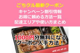 ごちクルクーポンキャンペーン一覧!初回1000円分のポイント入手方法【ケータリング・デリバリー弁当】