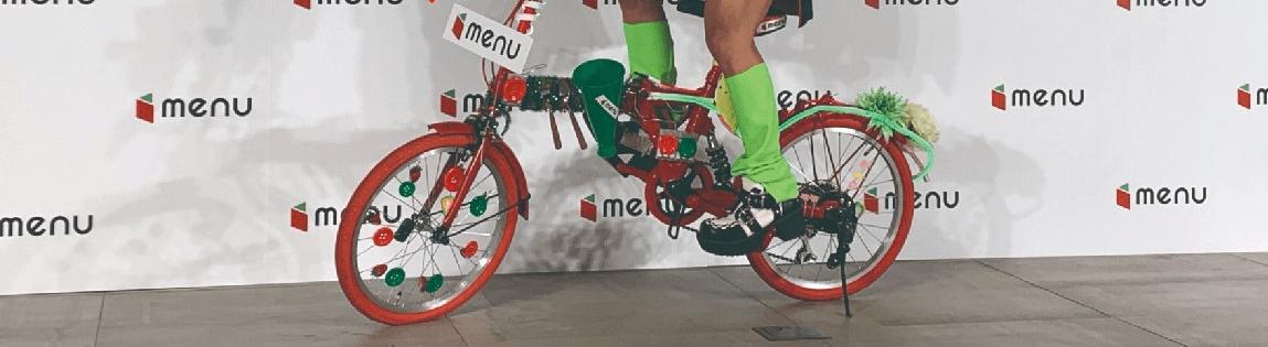 menuキャンペーン【自転車とコラボチェキが当たる】
