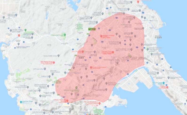 Uber Eats(ウーバーイーツ)の沖縄市・うるま市の配達エリア・対応地域