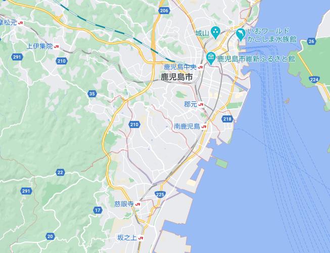 鹿児島のフードパンダ配達エリア・対応地域