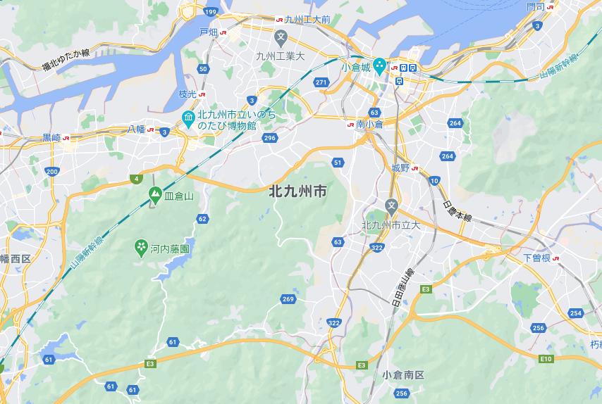 北九州(福岡)のフードパンダ配達エリア・対応地域