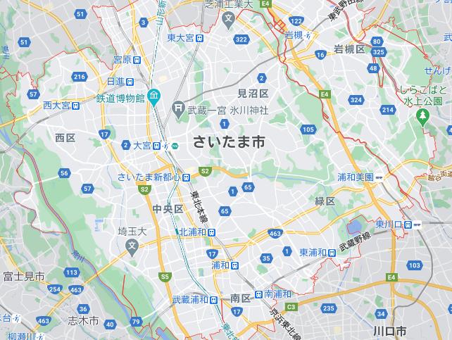 さいたま(埼玉)のフードパンダ配達エリア・対応地域