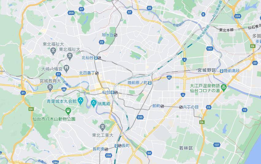 仙台(宮城)のフードパンダ配達エリア・対応地域