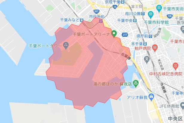 千葉menu配達員の配達エリア【2021年3月31日拡大エリア】