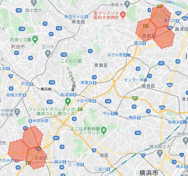 menu横浜・神奈川の配達範囲拡大エリア詳細【2021年3月8日】
