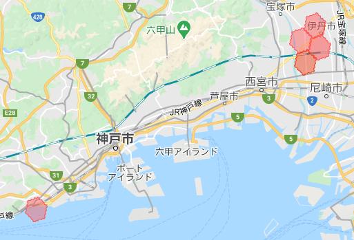 menu神戸・兵庫の配達エリア拡大地域【2021年3月8日】神戸市須磨区、伊丹市