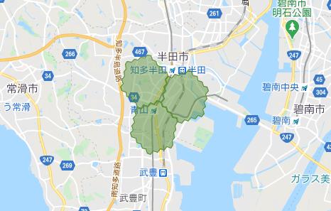 menu(メニュー)名古屋・愛知のデリバリー配達エリア・対応地域2