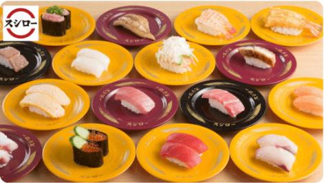 menu(メニュー)宮崎のおすすめ店舗【スシロー】