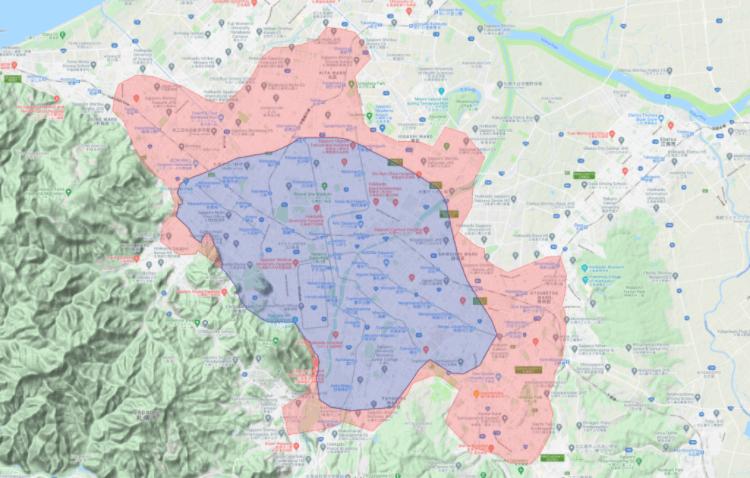 Uber Eats(ウーバーイーツ)札幌エリアの配達対応地域【中央区、白石区、東区、北区、西区、手稲区、南区、豊平区、清田区、厚別区】