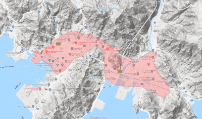 ウーバーイーツ広島・福山・呉の細かい対応エリア・範囲は