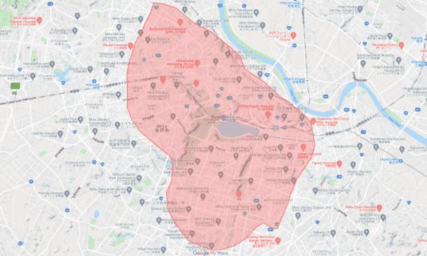 Uber Eats(ウーバーイーツ)茨城・水戸市対応エリア
